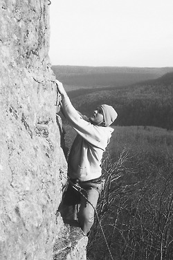 Me Climbing in Arkansas
